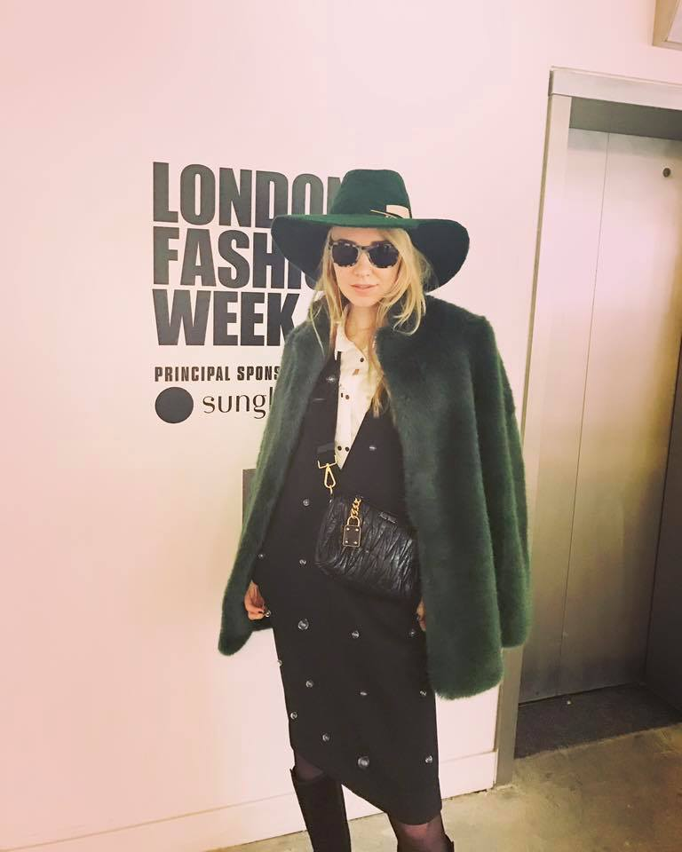 Kamile Kaselyte , London Fashion Week, wears Laura Daili